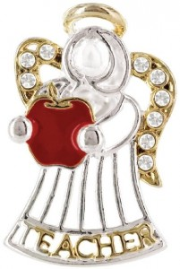 Angel for Teacher Pin