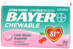 Bayer Children's Aspirin Chewable Low Dose Cherry
