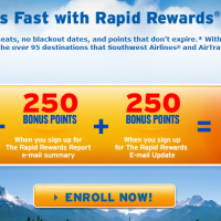 Southwest Air: Get 2,500 FREE Points with Rapid Rewards Enrollment