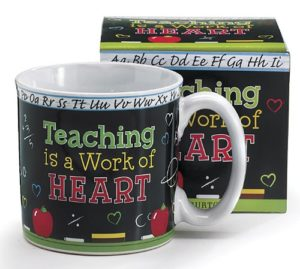 Teaching Is A Work Of Heart Teacher's Coffee Mug