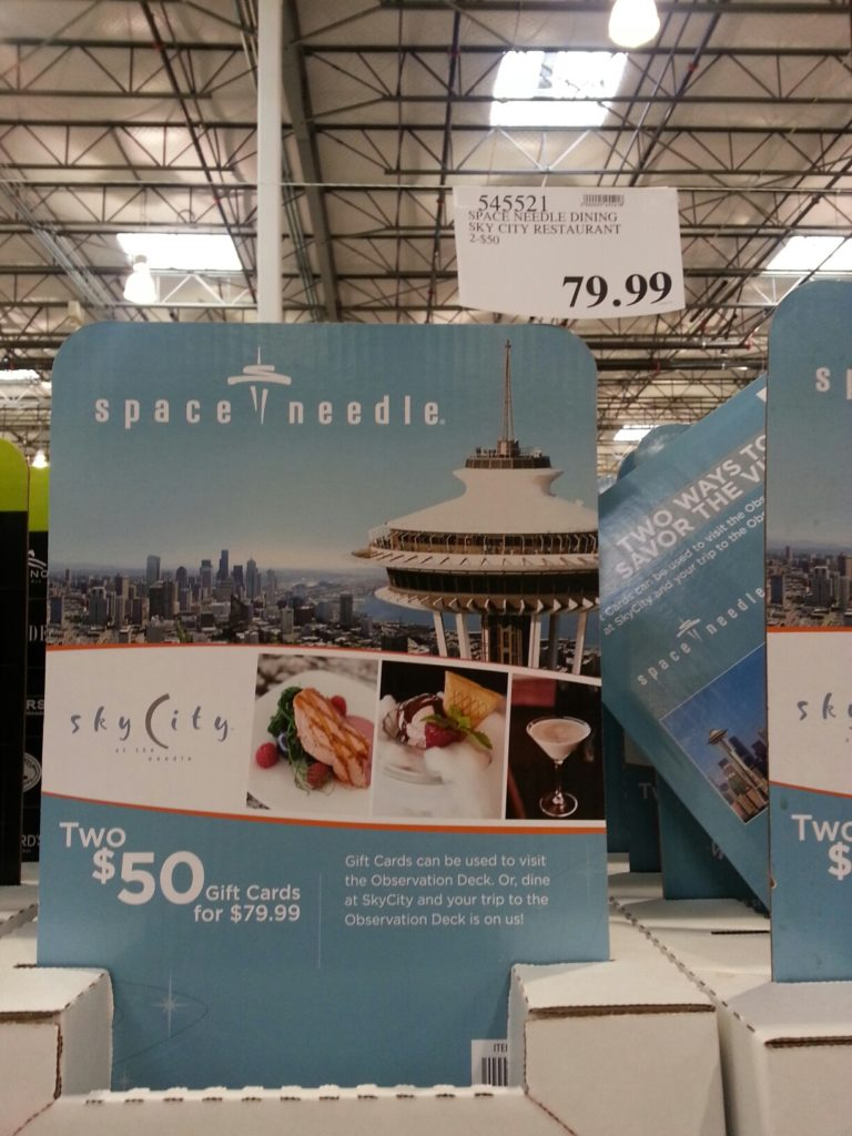Space Needle Restaurant Gift Card Costco