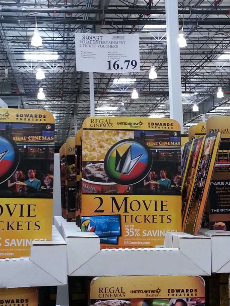 Regal Entertainment MOvie Tickets Gift Card Costco