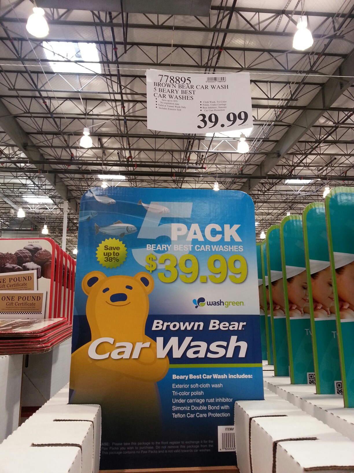 Costco Brown Bear Car Wash Gift Card
