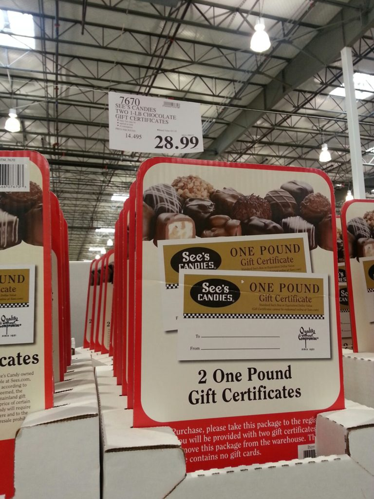 See's Chocolate Gift Card Costco
