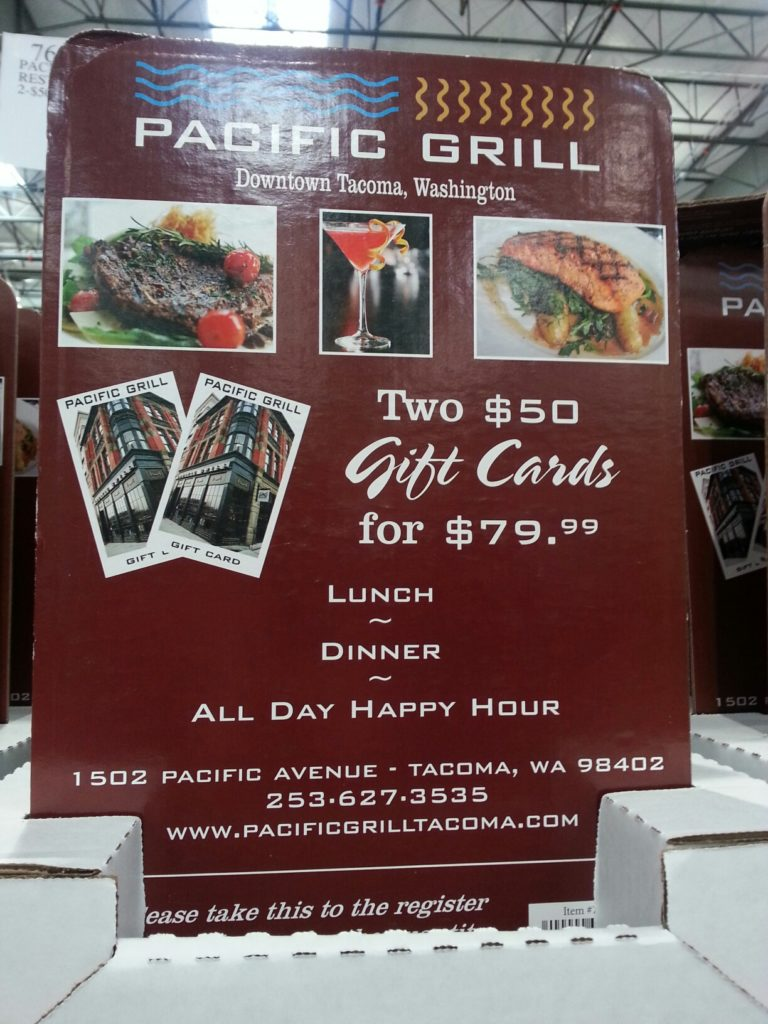 Pacific Grill Gift Card Costco