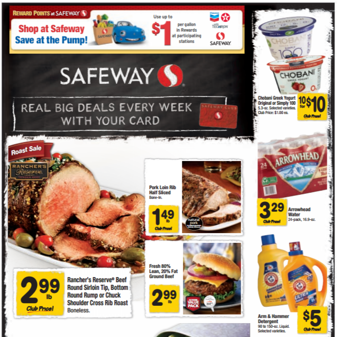 picture relating to Safeway Printable Coupons identified as Safeway NW Coupon Specials 2/5-2/11 ~ Pork Loin, Apples