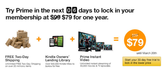 amazon prime membership rate to go up � get it for 79