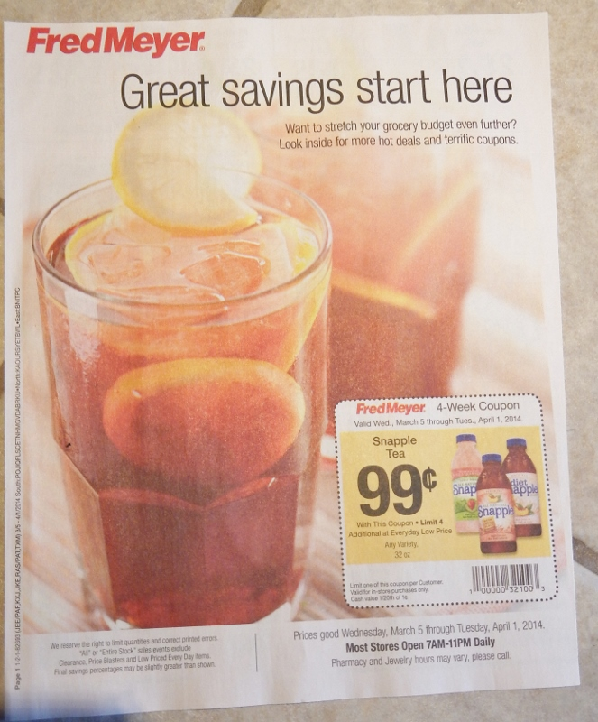 Fred Meyer Coupon Booklet