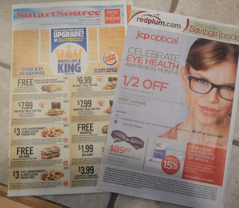Sunday coupon inserts reviews