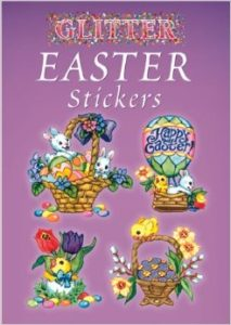 Glitter Easter stickers