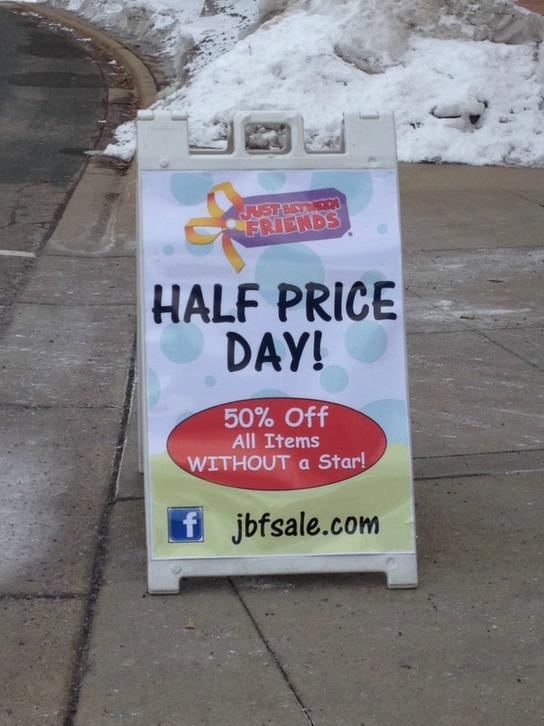 JBF half price day