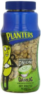 Planters Dry Roasted Peanuts Jar, Roasted Onion Garlic, 16 Ounce