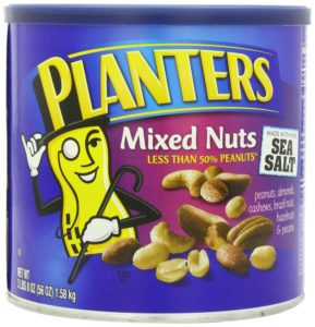 Planters Mixed Nuts With Pure Sea Salt, 56-Ounce Tin