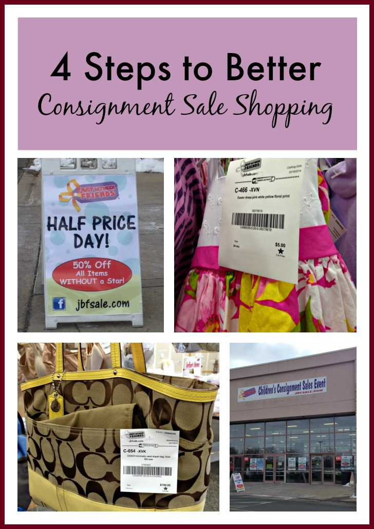 4 Steps to Better Consignment Sale Shopping – find great deals on kids' items and skip the garage sales!