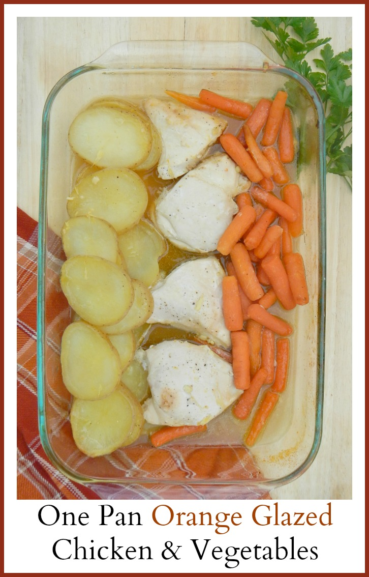 One Pot Orange Glazed Chicken & Vegetables: Easy, Quick Recipe