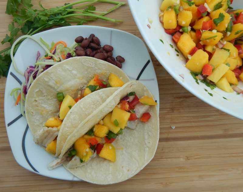 Tilapia Tacos with Mango Salsa: Delicious, and surprisingly easy!
