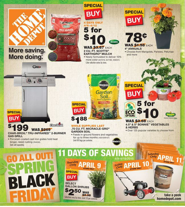 Home Depot Spring Black Friday 2015