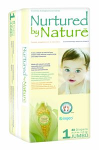 Nurtured by Nature Environmentally-Sensitive Diapers