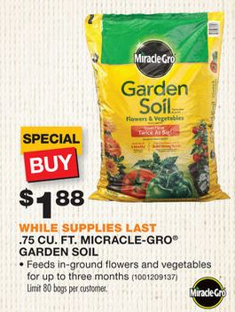 Home depot spring black friday hot deals on mulch - Home depot miracle gro garden soil ...