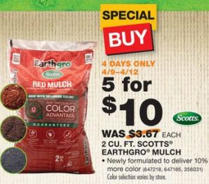 scotts earthgro mulch