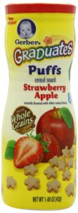 Gerber Graduates Puffs, 1.48-Ounce Canisters (Pack of 6)