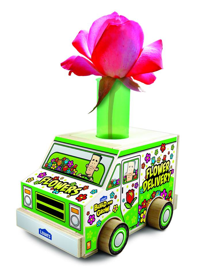 Lowe's flower delivery truck