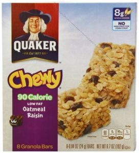 Quaker Oatmeal Raisin Chewy Granola Bars 90 Calories, 6.7 Ounce (Pack of 6)