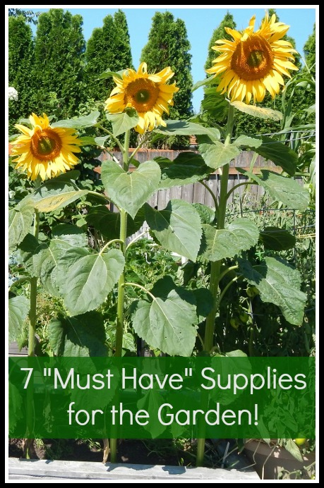 7 Must Have Supplies for the Garden - some you can get for cheap or FREE!
