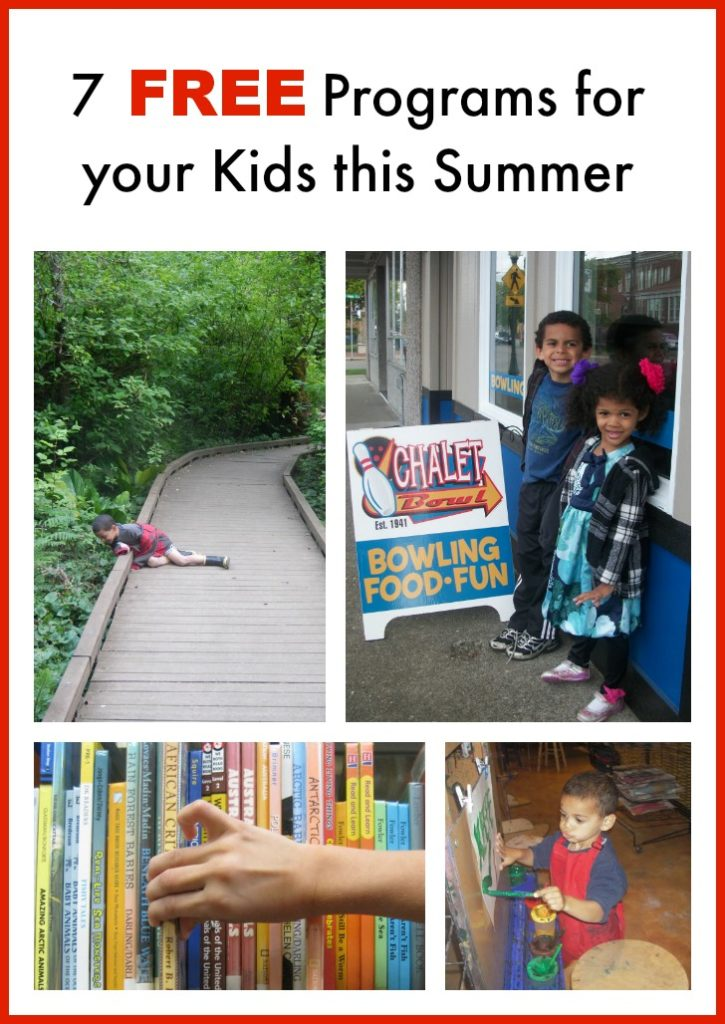 7 FREE Programs for your Kids this Summer
