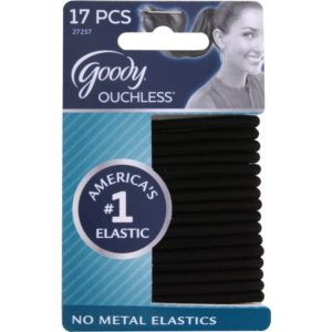Goody Ouchless Hair Elastics 17 Pc - Black