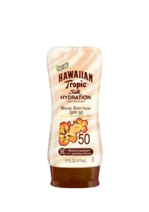HAWAIIAN Tropic Silk Hydration SPF 50 Sunscreen Lotion, 6 Fluid Ounce