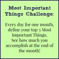 June: Most Important Things (MIT) Challenge Month at The Coupon Project!