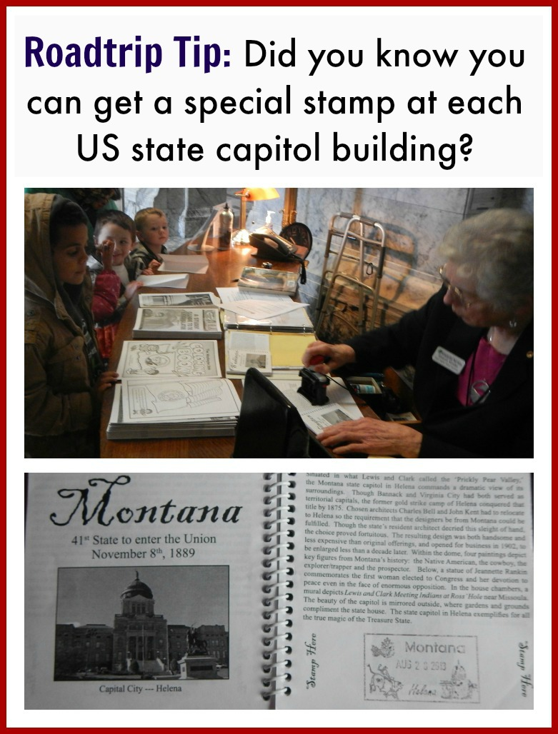 Roadtrip idea: try to visit each state's capitol building in the US. Make sure to get a stamp to prove you were there!