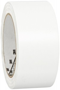 3M General Purpose Vinyl Tape 764 White, 2 in x 36 yd 5.0 mil (Pack of 1)