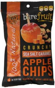 Bare Fruit Natural Sea Salt Caramel Apple Chips, Gluten Free + Baked, 1.69-Ounce Bags (Pack of 10)