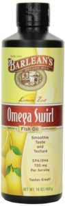 Barlean's Organic Oils Omega Swirl Fish Oil, Lemon Zest, 16-Ounce Bottle