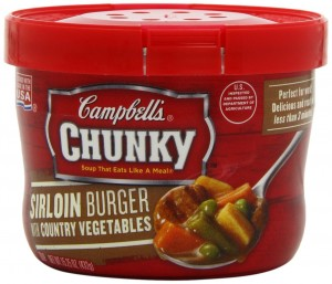 Campbell's Chunky Sirloin Burger with Country Vegetables Soup, 15.25 Ounce Microwavable Bowls (Pack of 8)