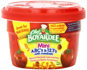 Chef Boyardee ABC & 123 Pasta Shapes with Mini Meatballs in Tomato Sauce, 7.5-Ounce Microwavable Bowls (Pack of 12)