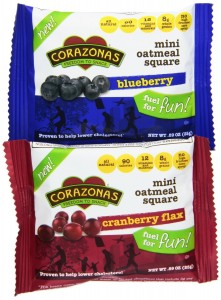 Corazonas Fruit Lovers Mini Oatmeal Squares Variety Pack, 0.89 Ounce Bars (Pack of 30)