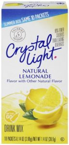 Crystal Light On The Go Drink Mix, Lemonade, 10 Count (Pack of 12)
