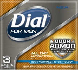 Dial for Men Odor Armor Bar, 3 Count, 4 Ounce Each