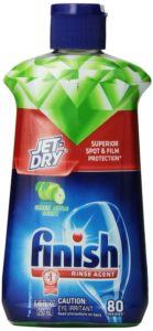Finish Jet Dry Rinse Aid, Dishwasher Rinse Agent, Green Apple, 8.45 Ounce