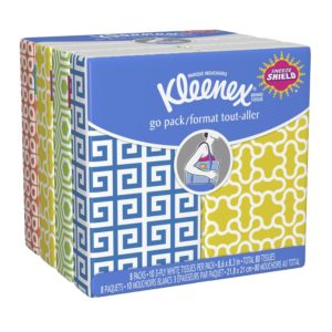 Kleenex Pocket Pack Facial Tissue, 8 Count (Pack of 24)