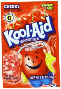 Kool-Aid Cherry Unsweetened Soft Drink Mix, 0.13-Ounce Packets (Pack of 96)