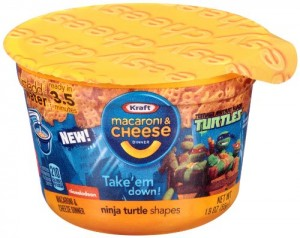 Kraft Macaroni and Cheese Easy Mac Cups in fun Ninja Turtle Shapes