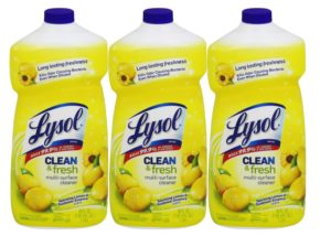 Lysol Clean and Fresh All Purpose Cleaner, Lemon Sunflower, 40 Ounce (Pack of 3)