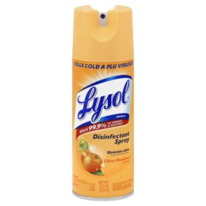 Lysol Disinfectant Spray, Citrus Meadows, 12.50 Ounce