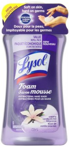 Lysol Touch of Foam Foaming Hand Soap Refill, Creamy Vanilla Orchid, 25 Ounce