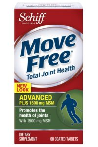 Move Free Advanced Glucosamine Chondroitin Joint Supplement with 1500 mg Hyaluronic Acid and 1500 mg MSM, 60 Count