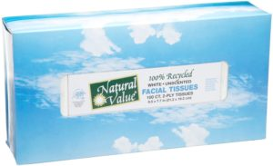 Natural Value 100 Recycled Facial Tissue, 100 2-Ply Sheets Per Box (Pack of 30)